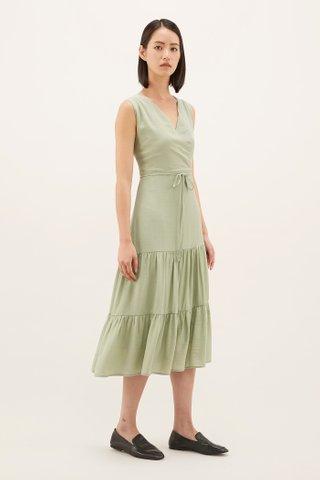 Erynn Cross-front Midi Dress