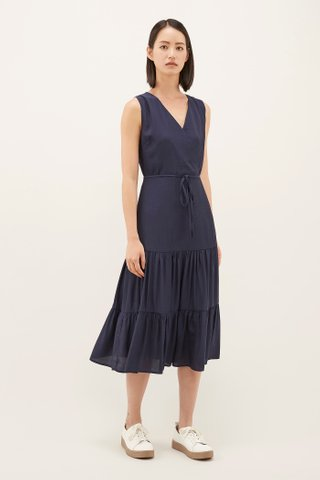 Erynn Cross-front Midi Dress