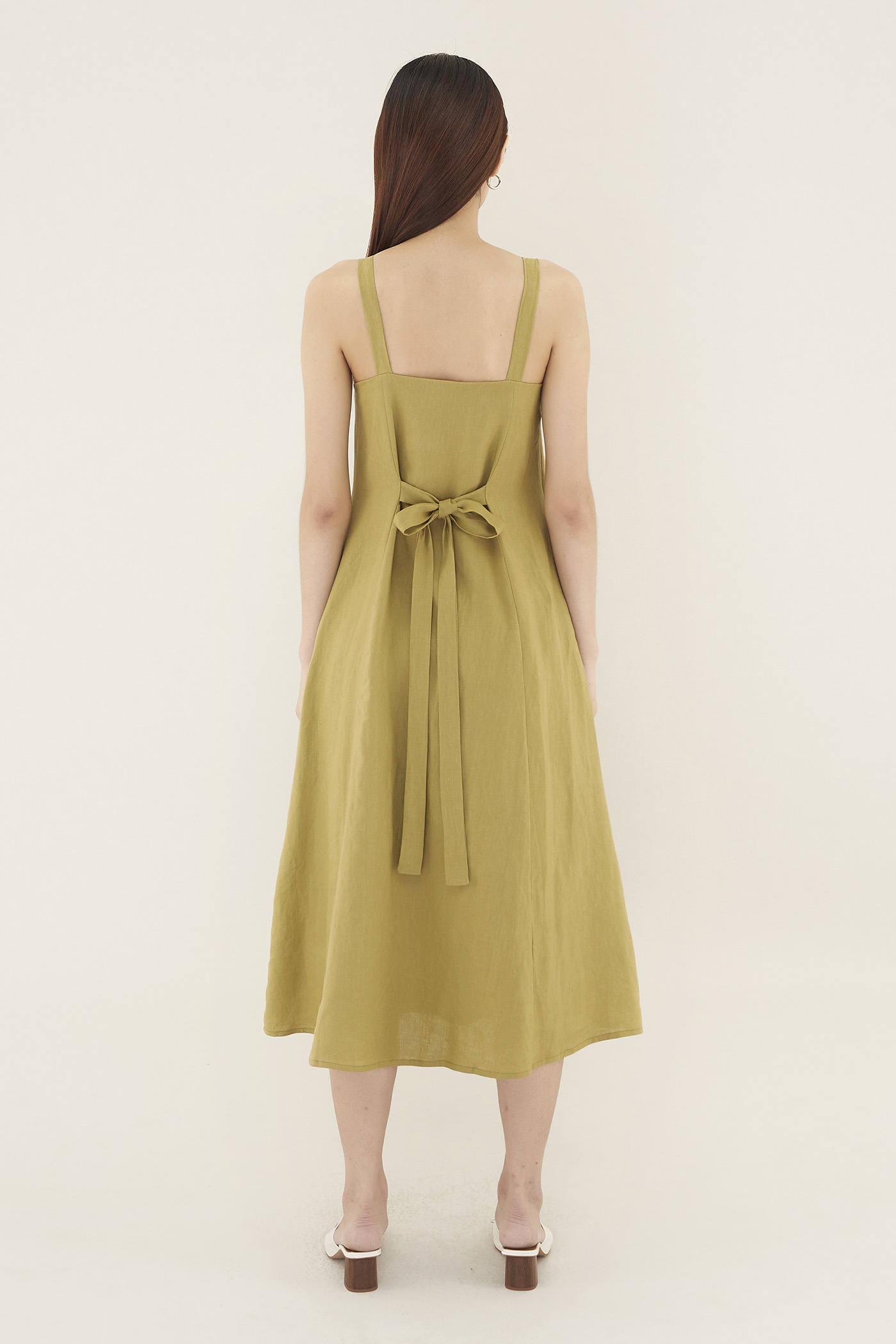 Krasia Square-neck Maxi Dress