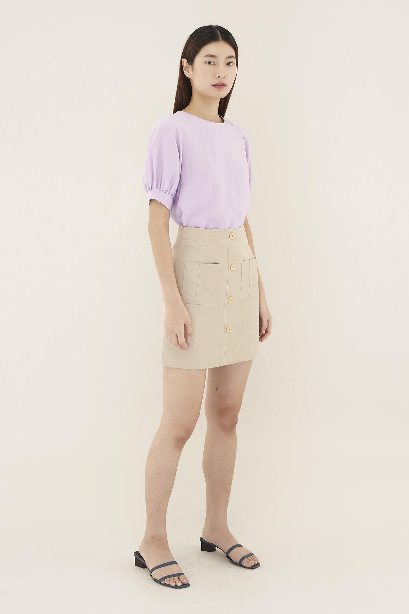 Elsha Patch Pocket Skirt