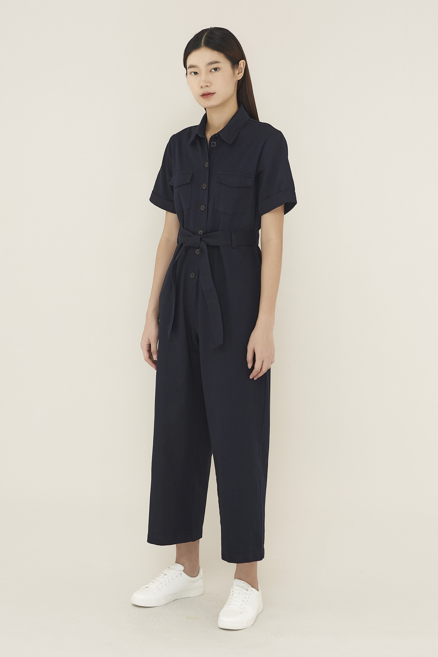 Claury Collared Jumpsuit