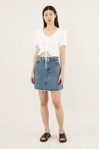 Camarin Ruched Crop Top