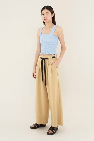 Rolene Shirred Crop Top