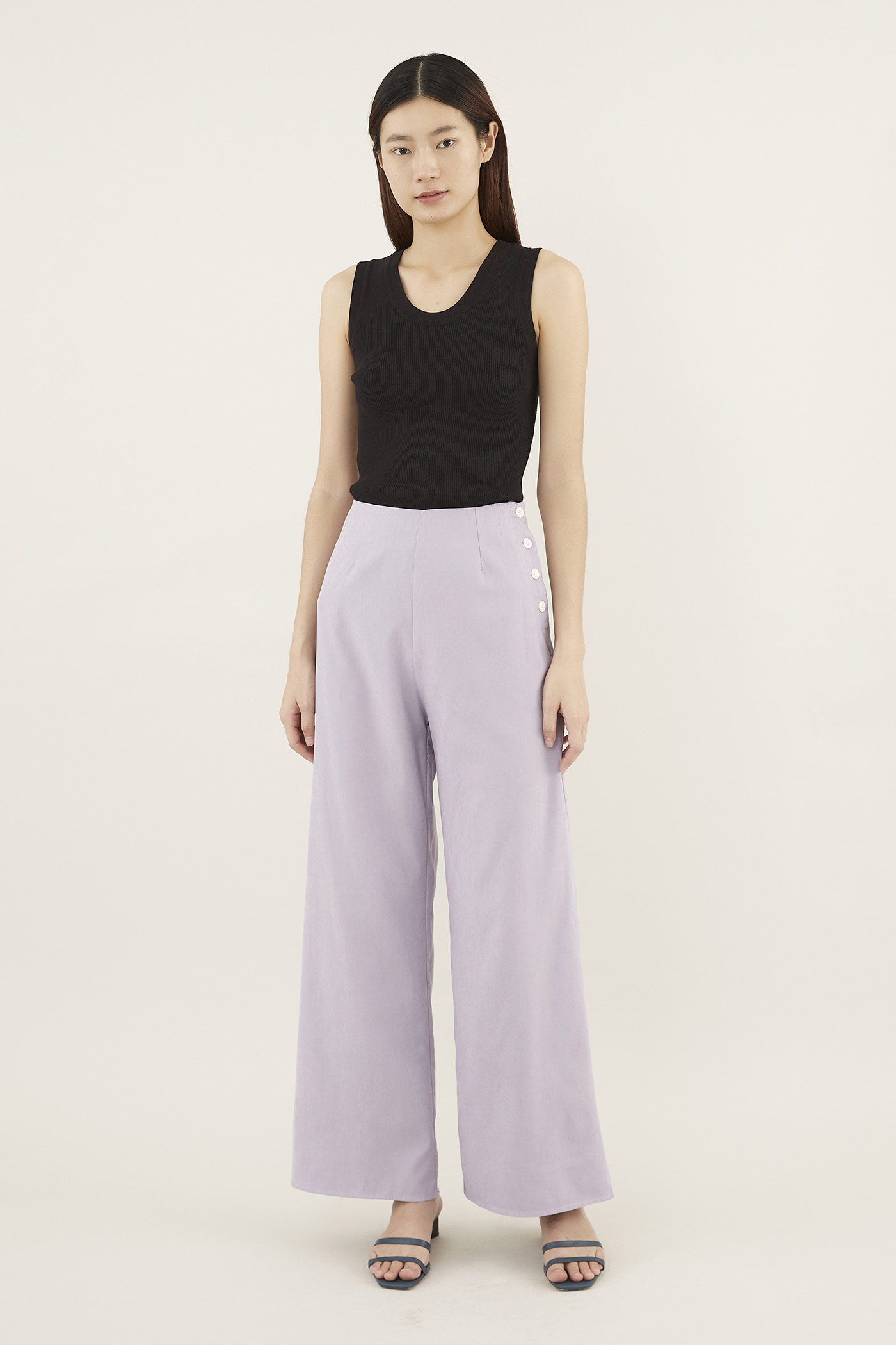 Jezel Side-button Pants