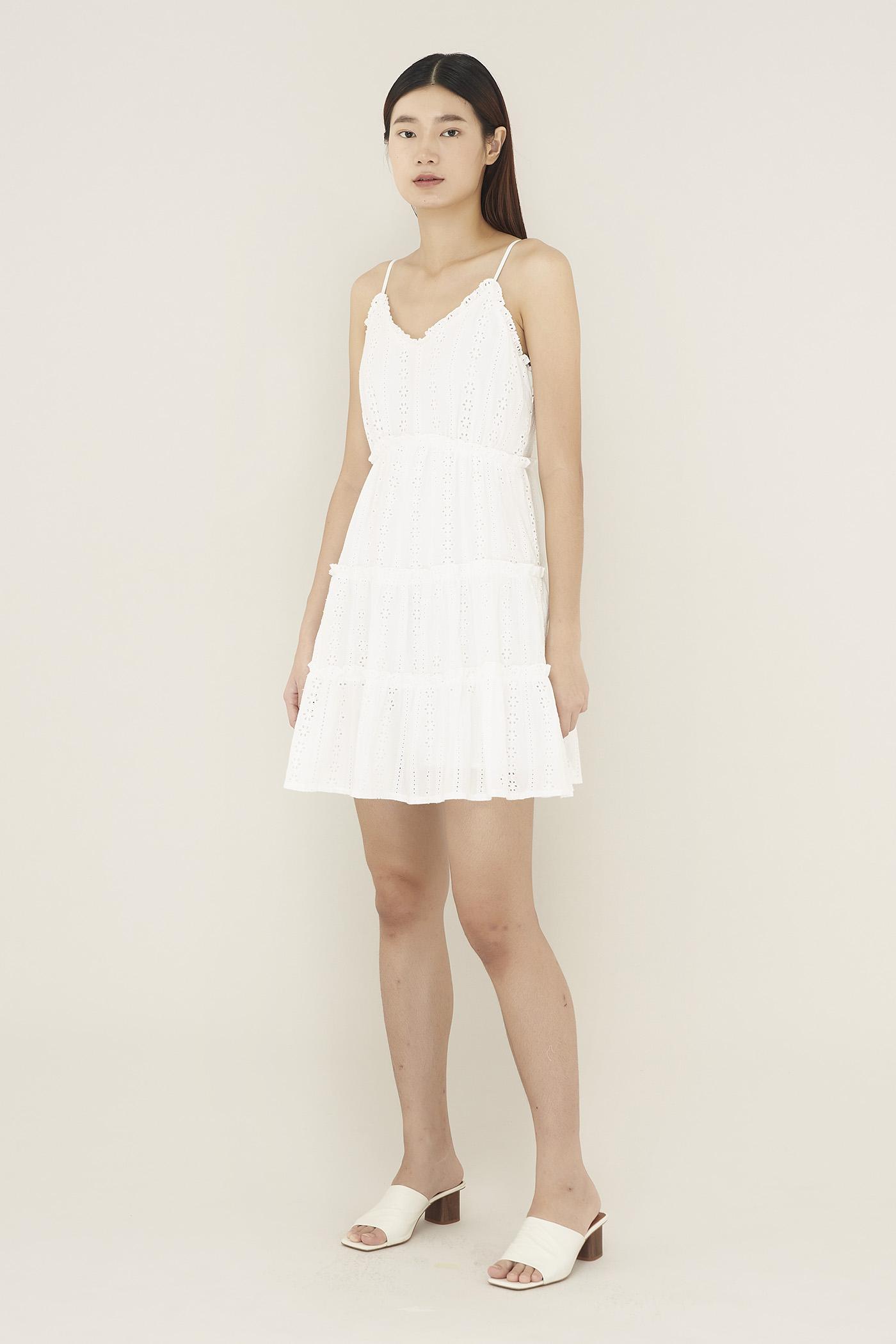 Laviel Frill-trim Tiered Dress