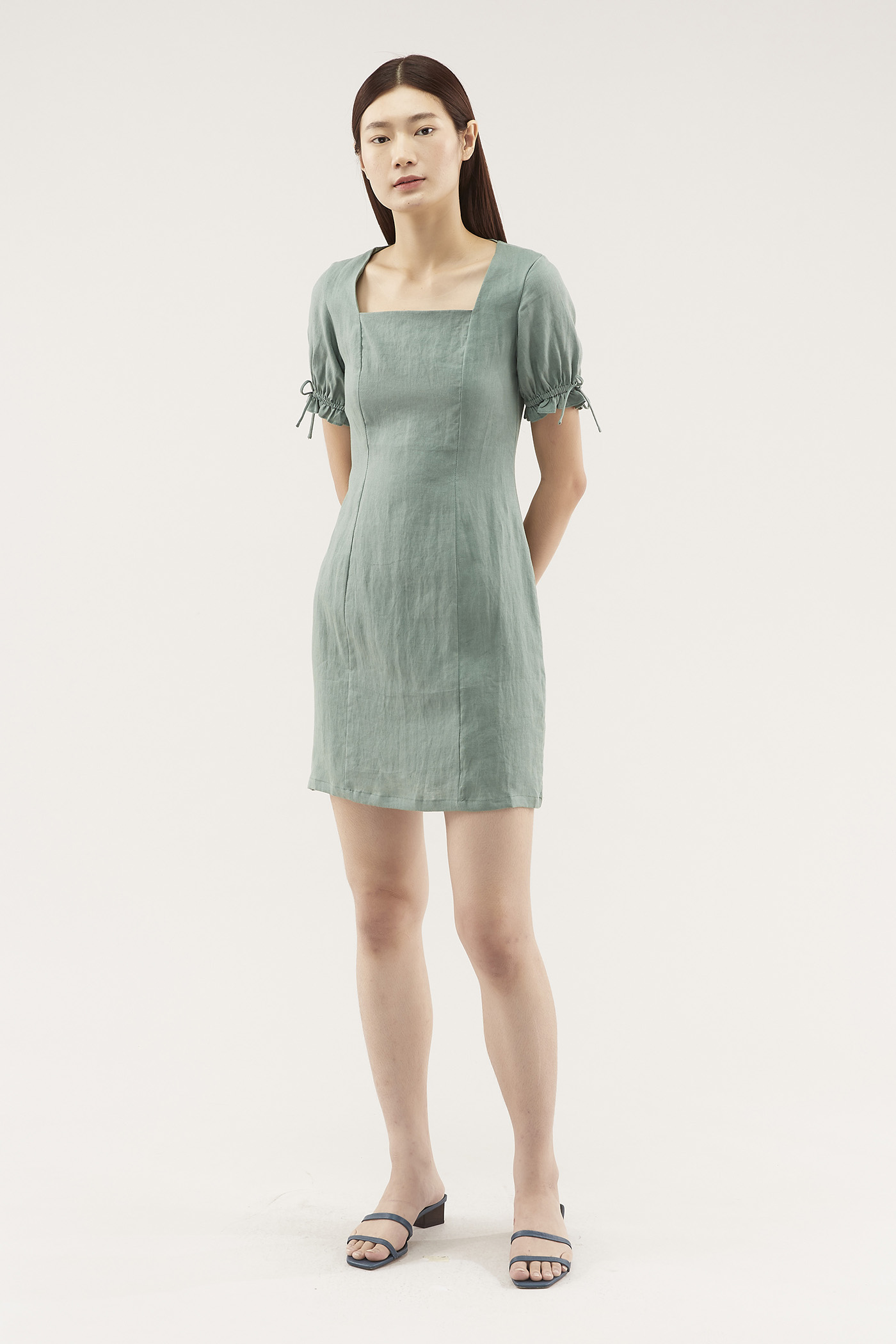 Ayleen Square-neck Shift Dress