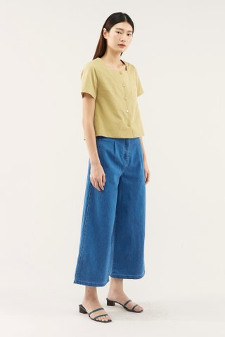 Alexa Square-neck Blouse