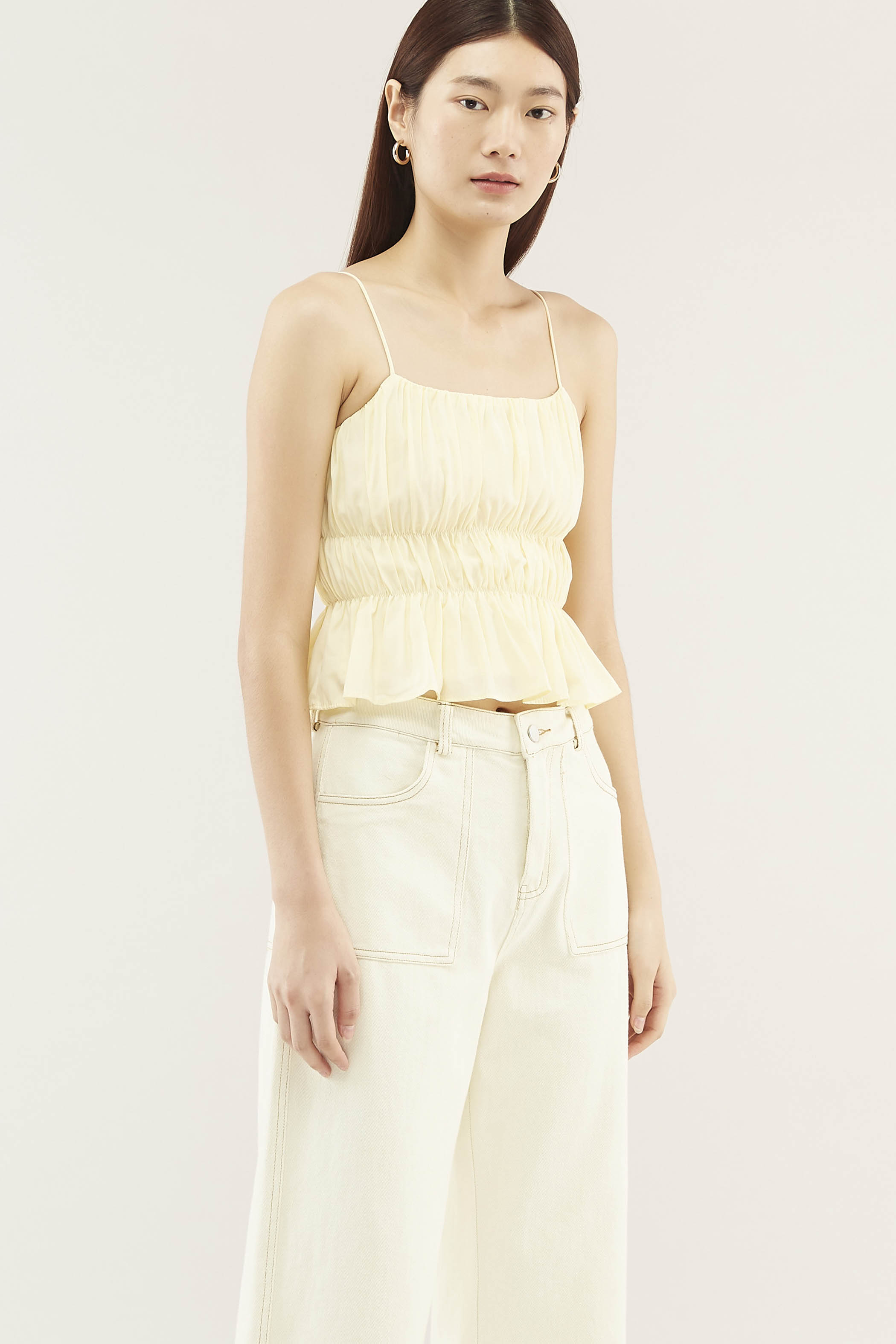 Parisa Ruched Crop Top
