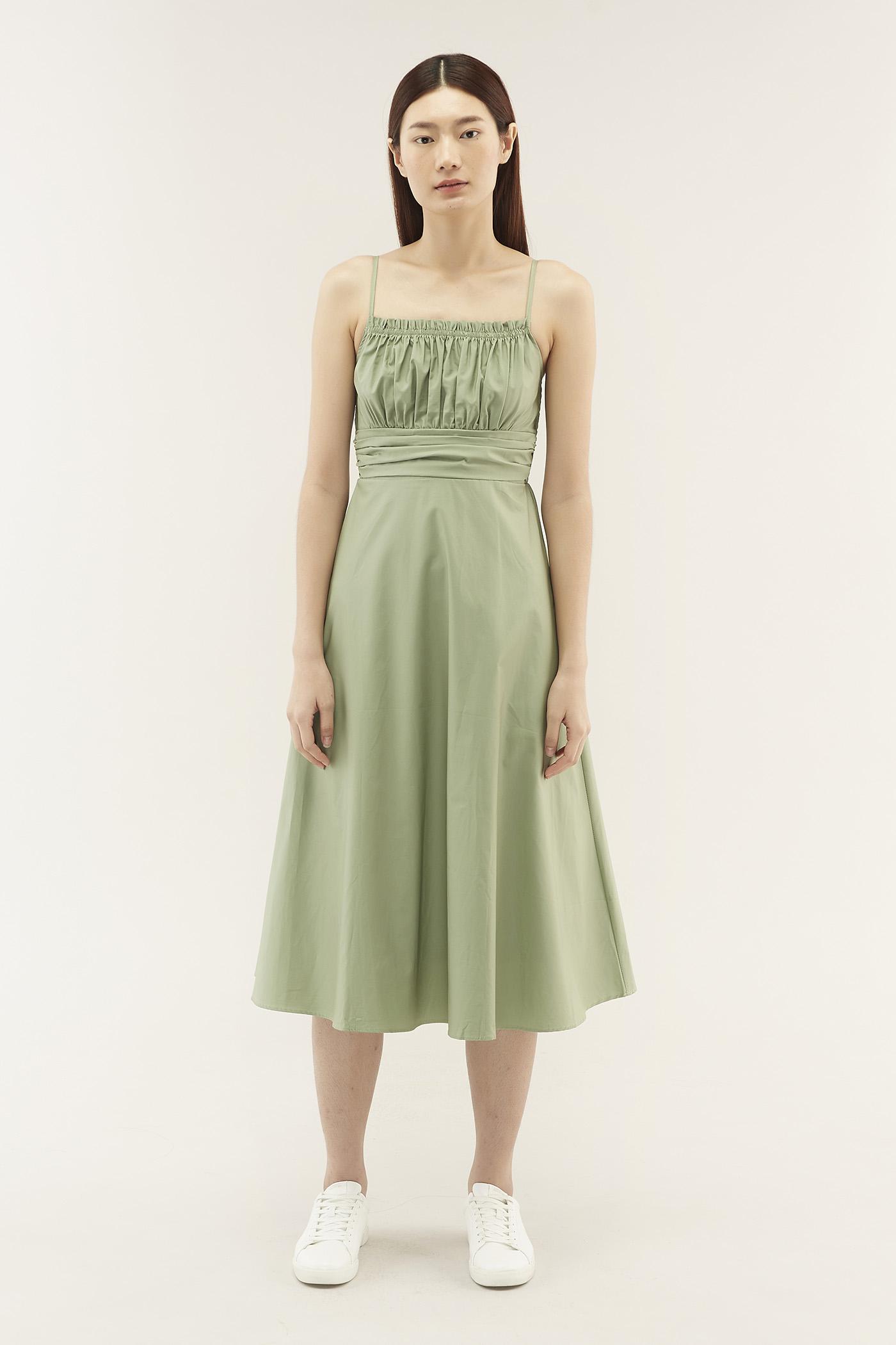 Katriel Ruched Midi Dress
