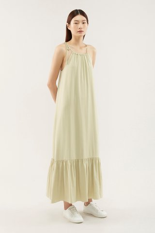 Jynette Gathered-neckline Dress