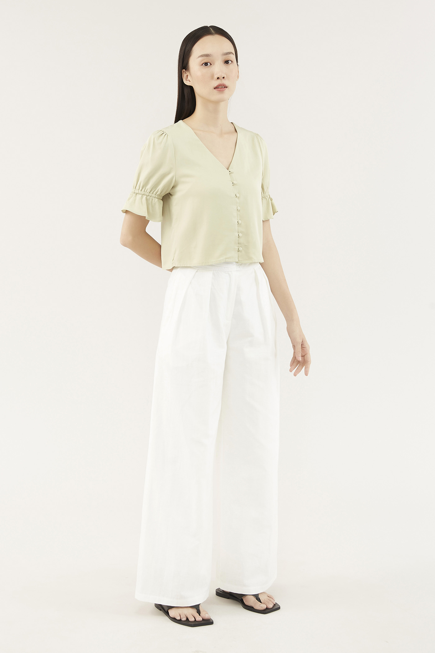 Damara Frill-trim Blouse