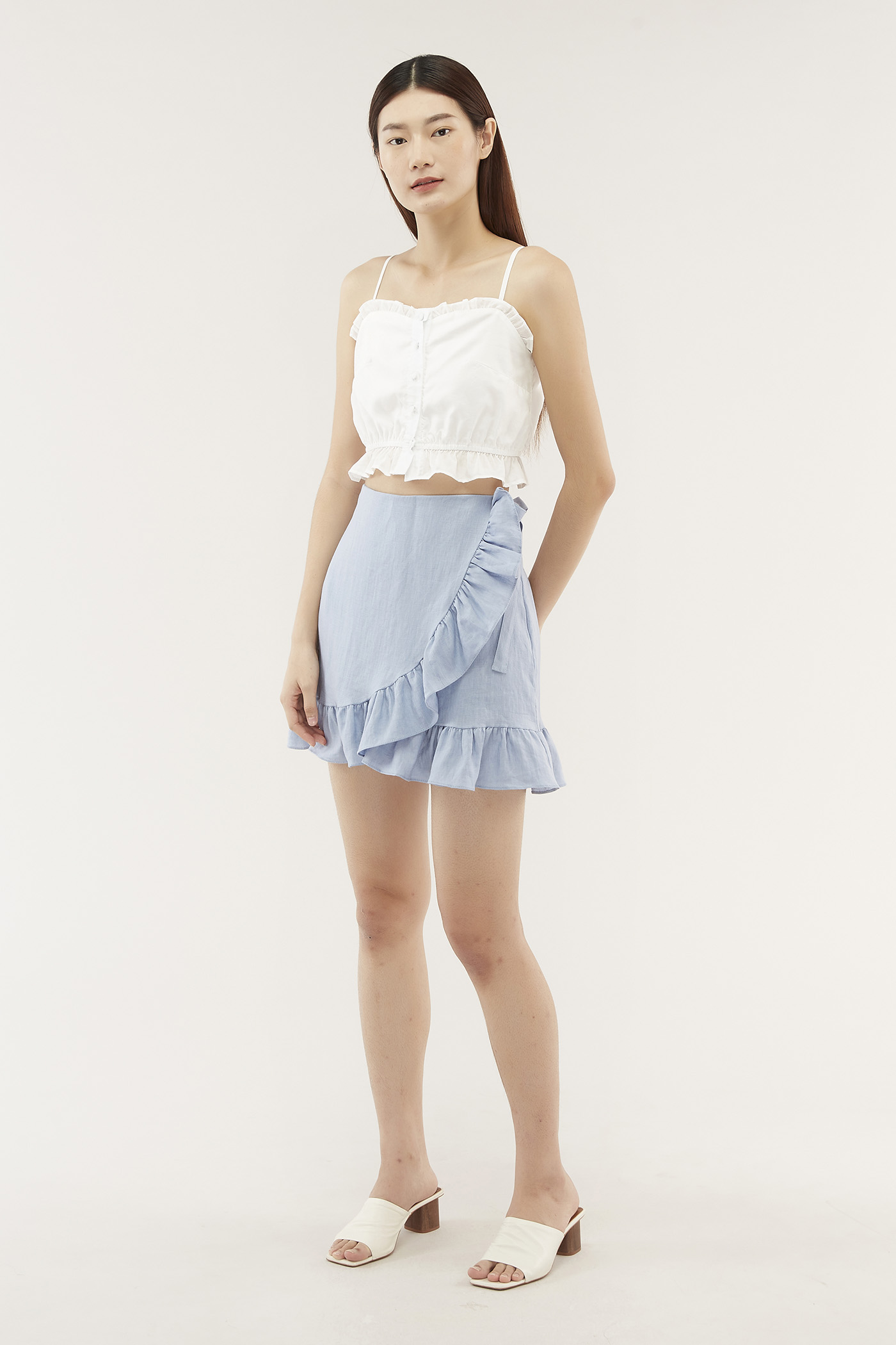 Marice Ruffle-trim Skirt