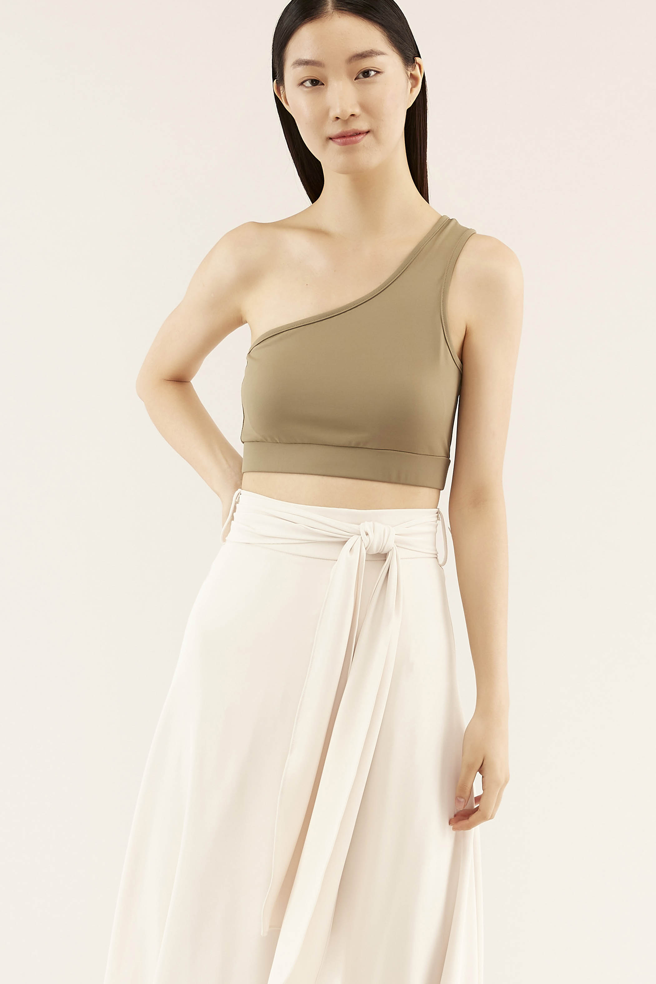 Cavan One-shoulder Crop Top