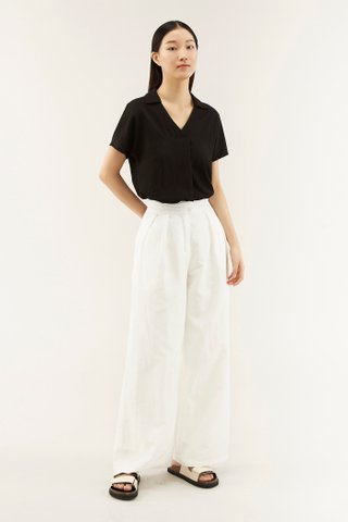 Karol Pleated-waist Pants