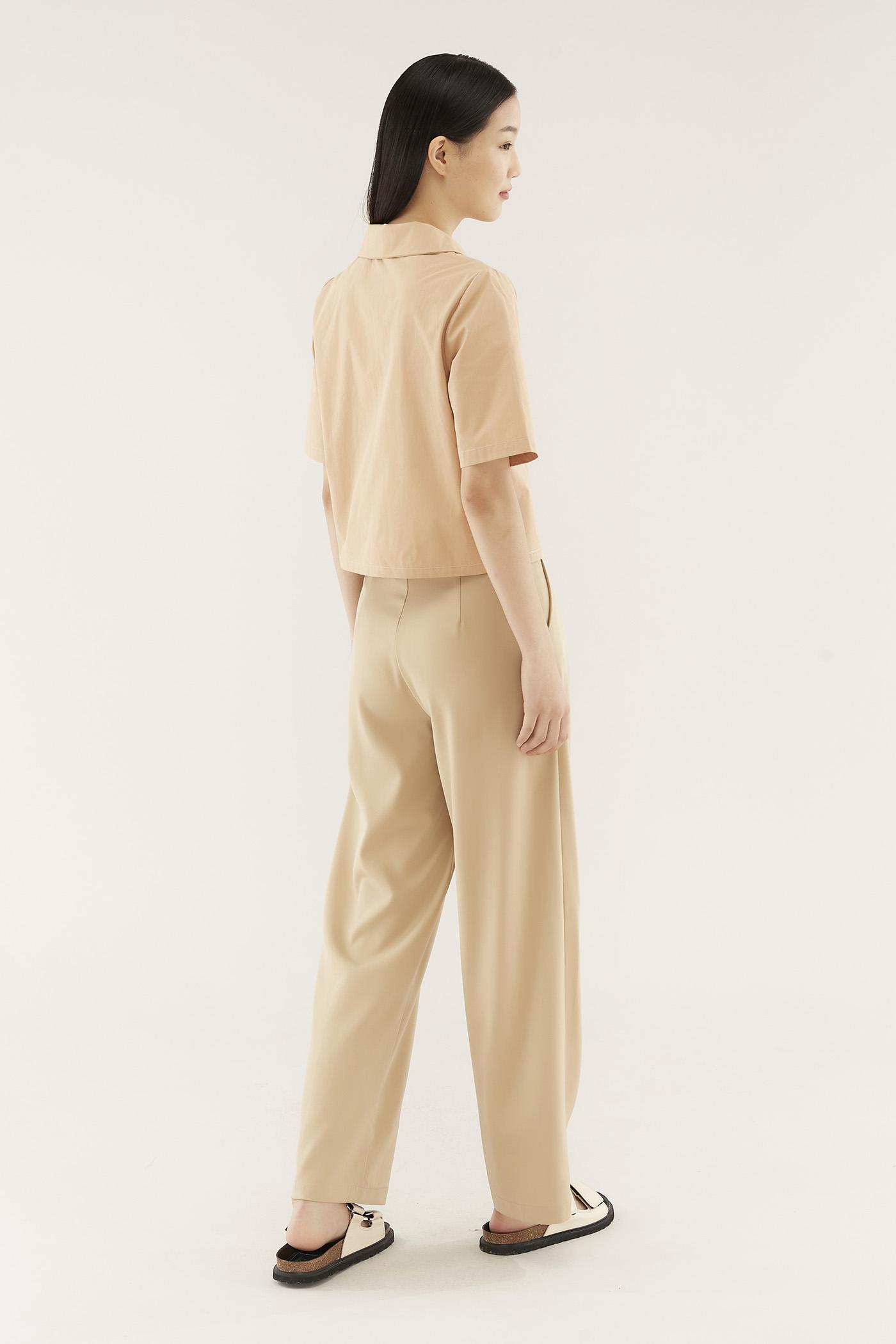 Elida Wide-collar Shirt