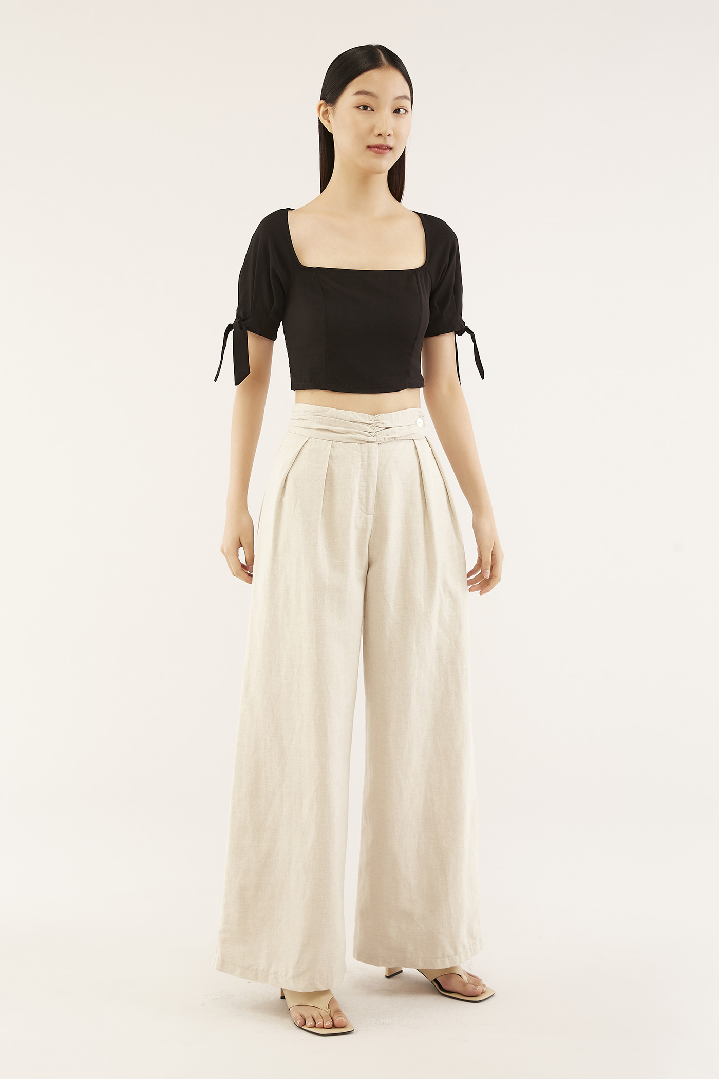 Karol Pleated-waist Pants