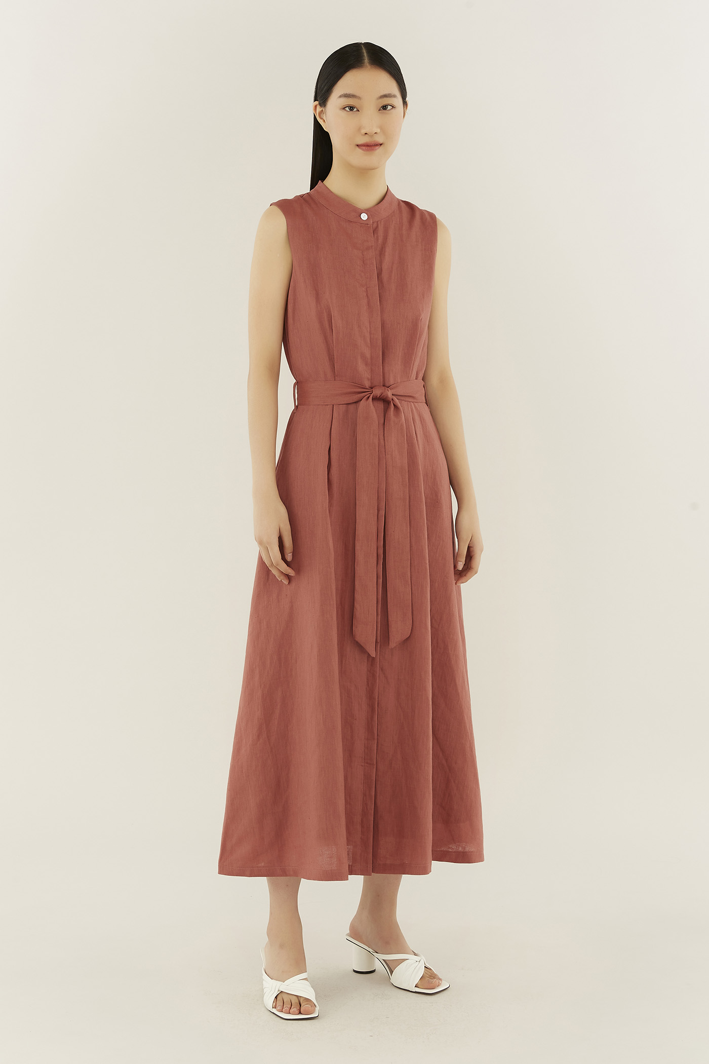 Delilah Stand-collar Dress