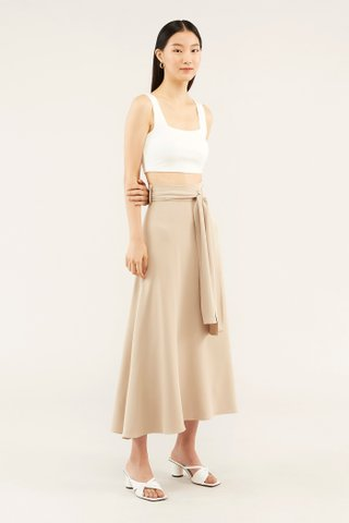 Elsie Square-neck Crop Top