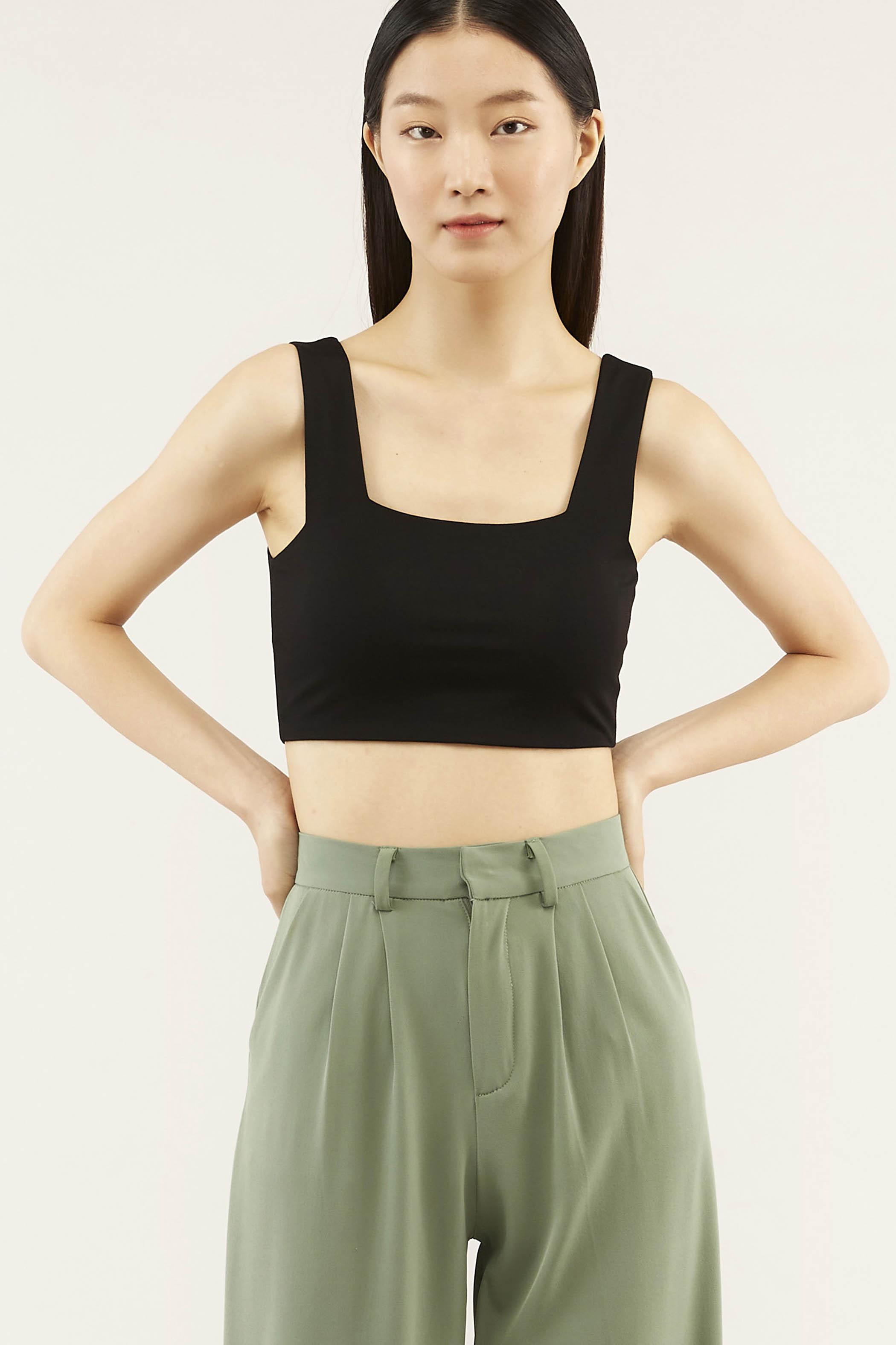 Elsie Square-neck Crop Top