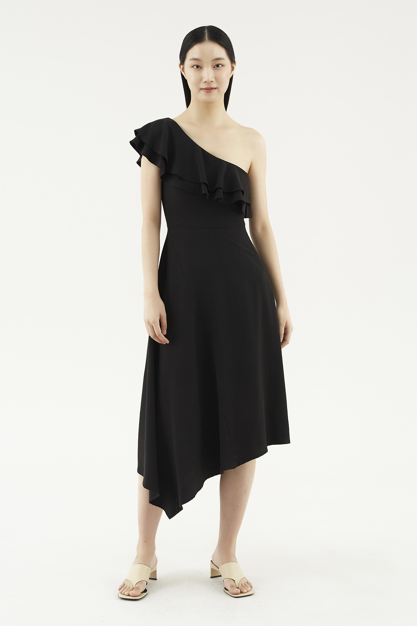 Marica One-shoulder Dress