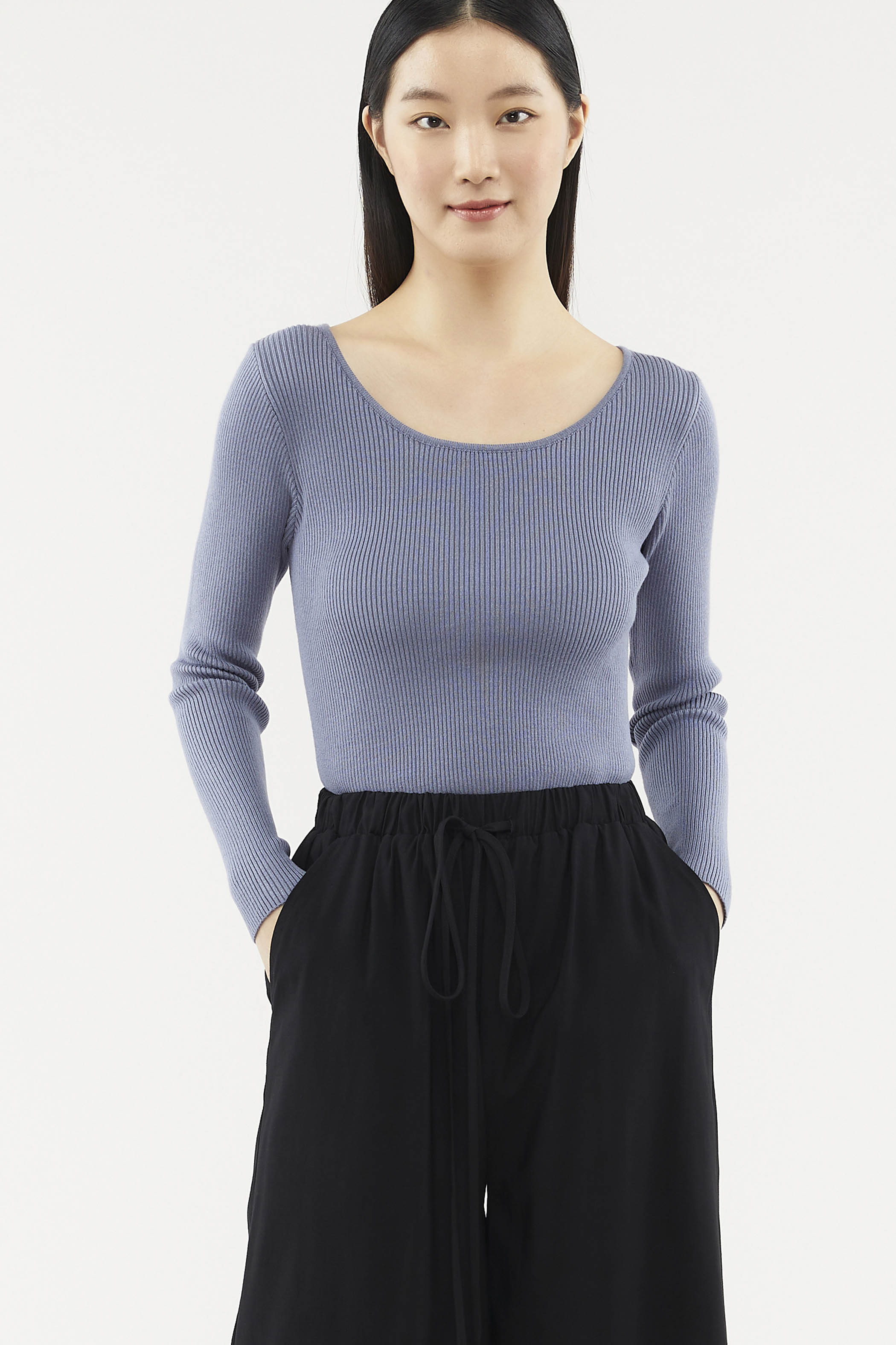 Valerie Long-sleeve Knit Top