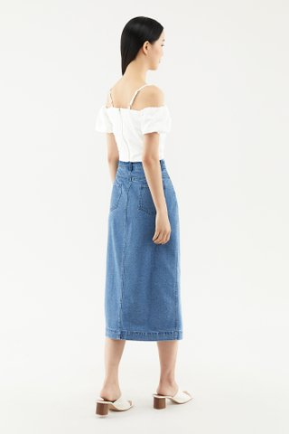 Camara Denim Midi Skirt
