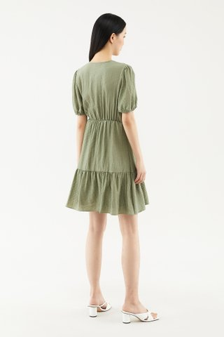 Karyse Cross-front  Dress