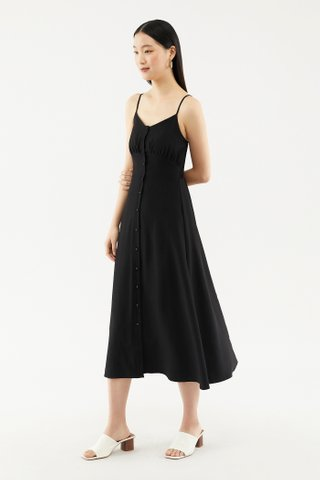 Reveca Button-front Midi Dress
