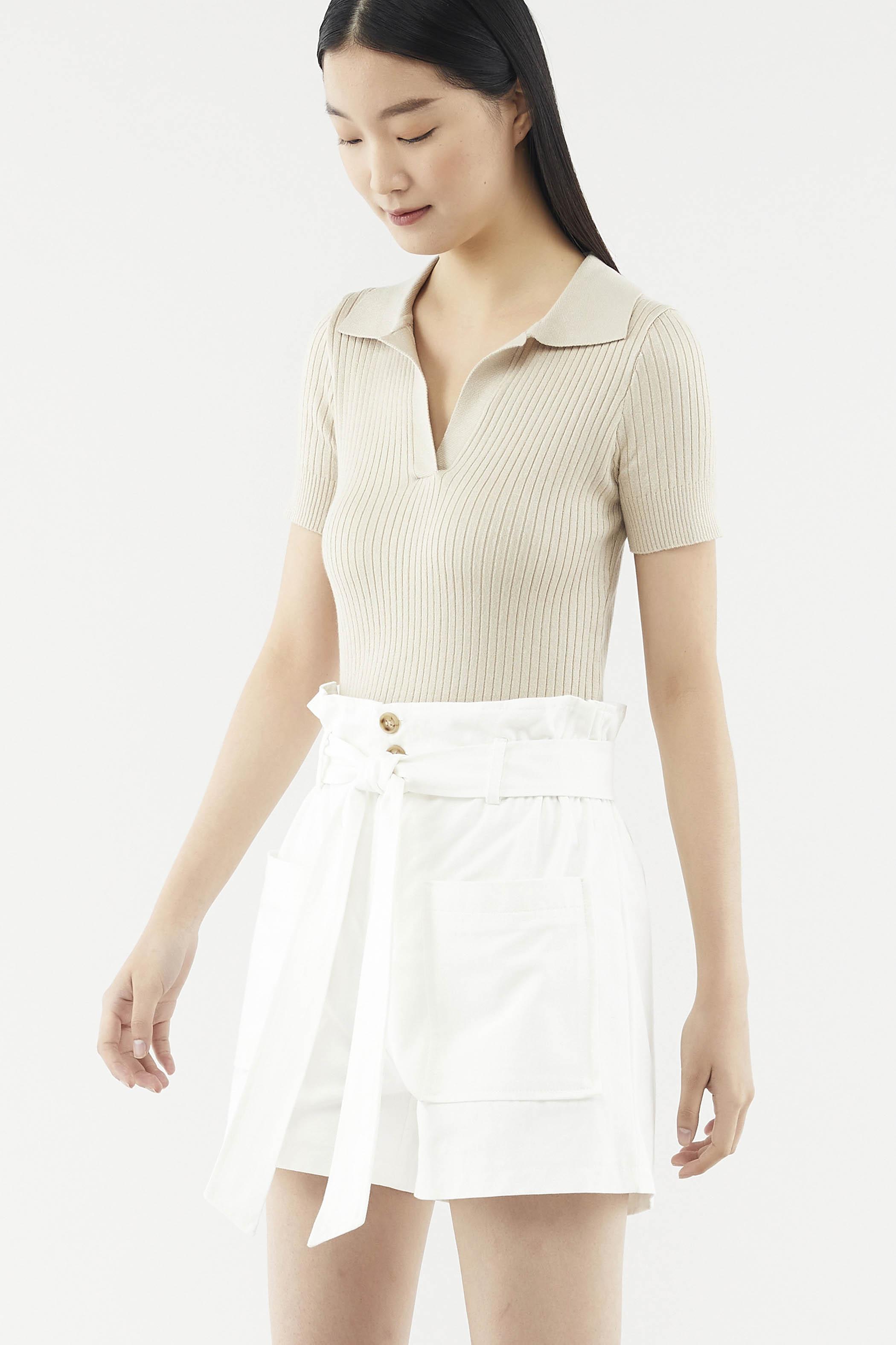 Jemira Collared Knit Top