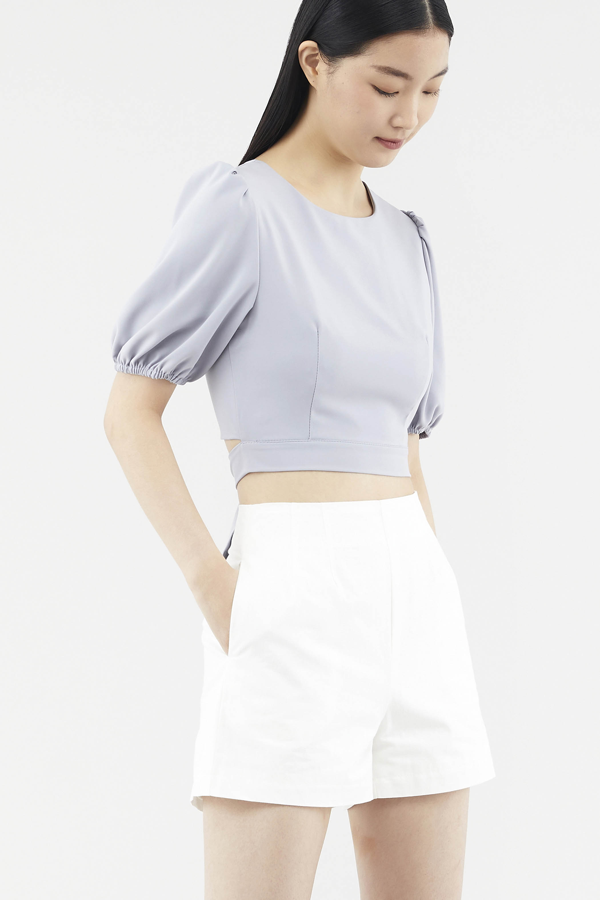 Bevyn Back-button Blouse