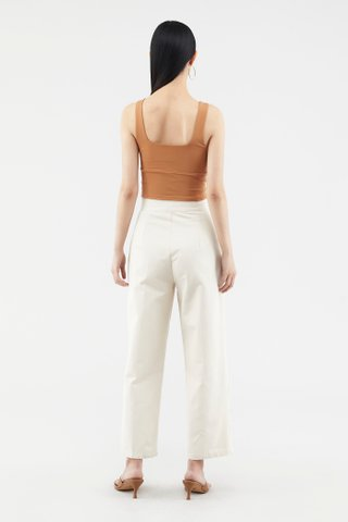 Anela Ruched Crop Top