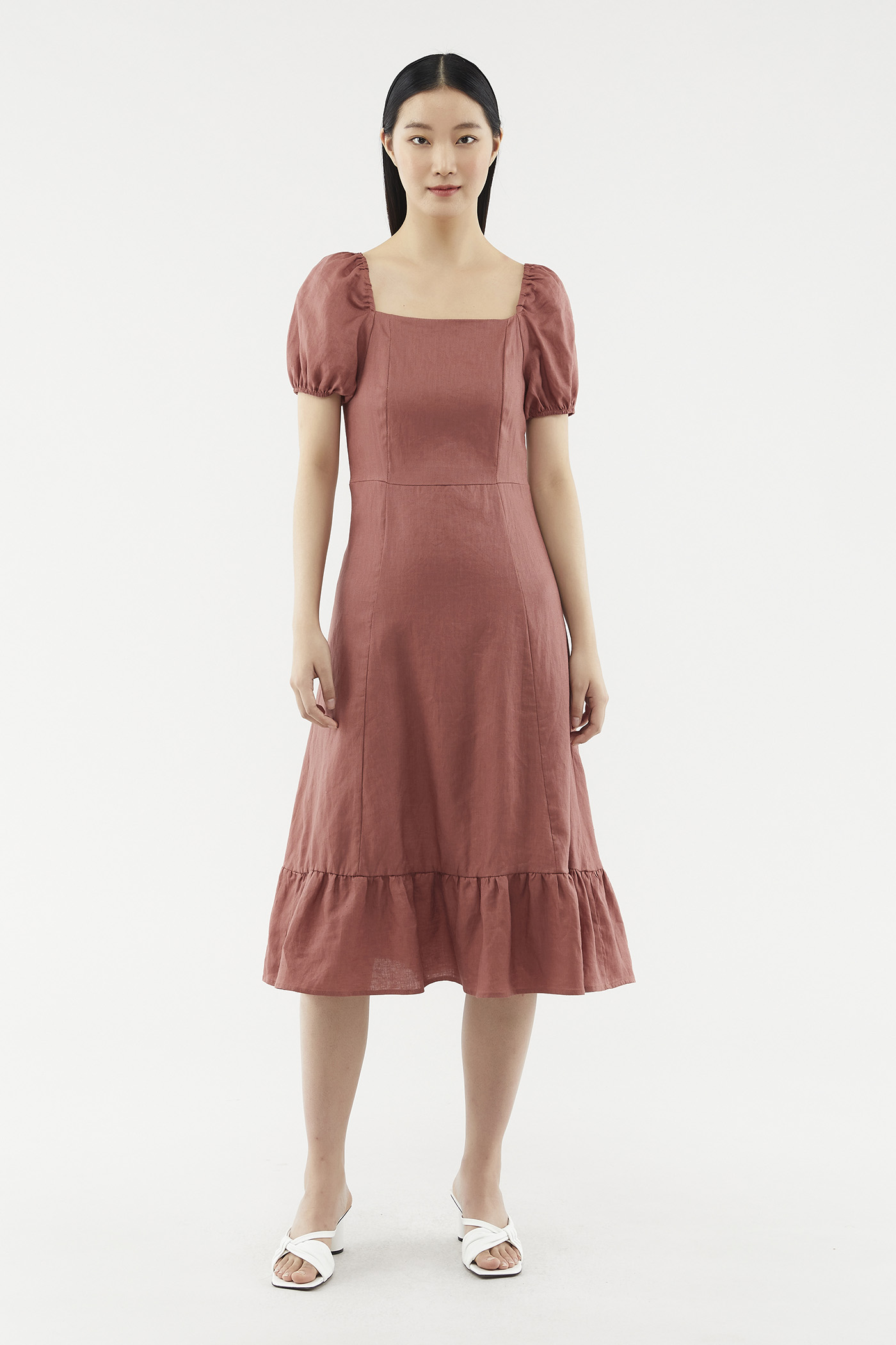 Caitlin Puff-sleeve Dress