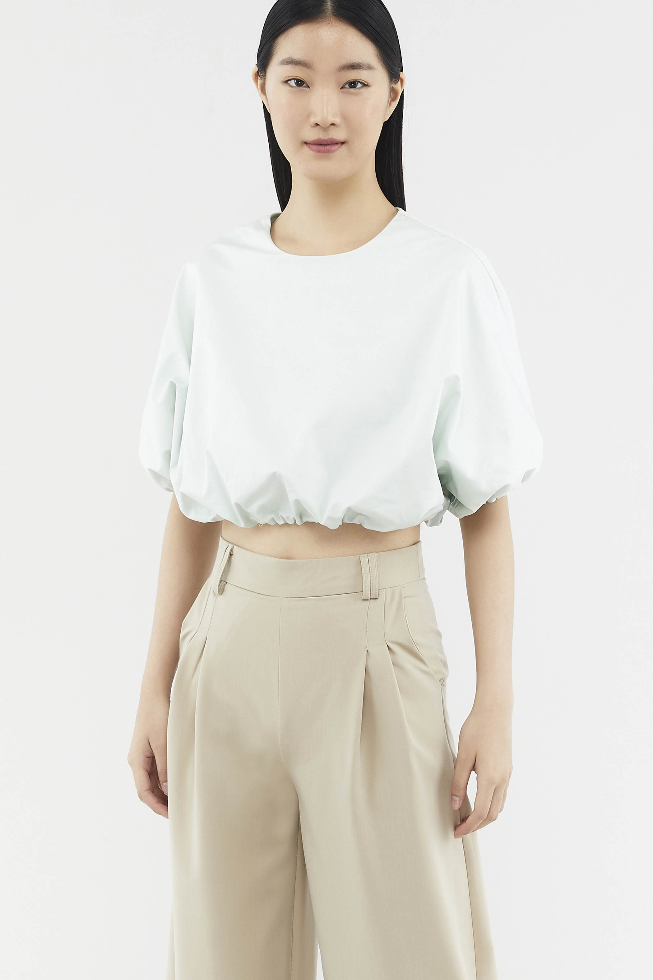 Gladys Balloon Crop Top