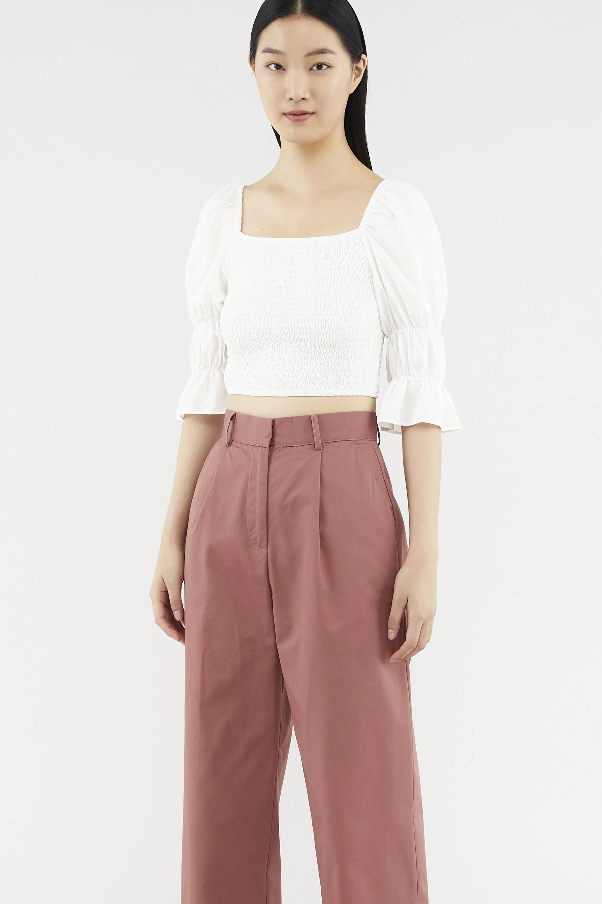 Sheila Shirred Crop Top