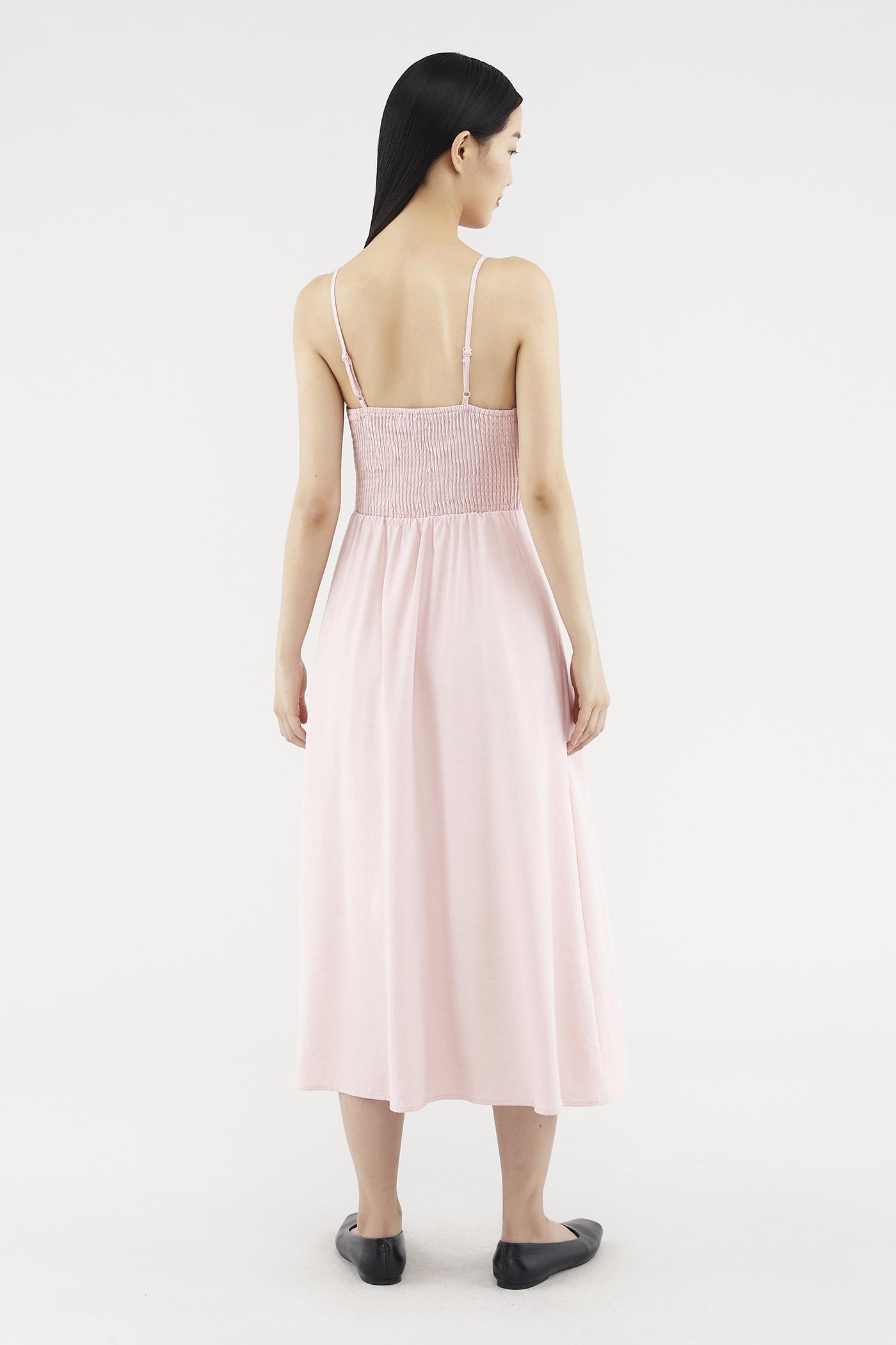 Reveca Button-front Midi Dress